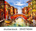 Oil Painting   Venice  Italy