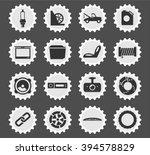 car shop black silhouette... | Shutterstock .eps vector #394578829
