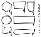hand drawn speech bubbles ... | Shutterstock .eps vector #394580263