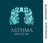 world asthma day. vector... | Shutterstock .eps vector #394584478