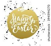 happy easter typographic... | Shutterstock . vector #394594270