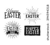 happy easter greeting card.... | Shutterstock . vector #394594318