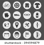 bycicle simply symbol for web... | Shutterstock .eps vector #394594879