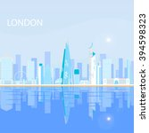 london   capital city of the... | Shutterstock .eps vector #394598323