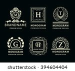 monogram design elements...