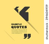 quote blank template on yellow... | Shutterstock .eps vector #394604959