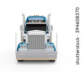 steel blue american truck front ... | Shutterstock . vector #394608370