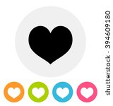 heart icon  | Shutterstock . vector #394609180