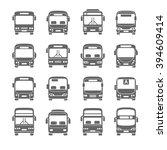 bus icon | Shutterstock .eps vector #394609414