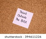 """handwriting word """"think outside ...   Shutterstock . vector #394611226"""