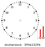 clock face blank | Shutterstock .eps vector #394613296