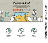 planning a trip with a trip... | Shutterstock .eps vector #394615384