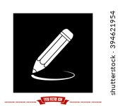 pencil icon vector. | Shutterstock .eps vector #394621954