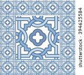 floor tiles   seamless vintage... | Shutterstock .eps vector #394625584