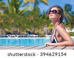 beautiful woman relaxing in...   Shutterstock . vector #394629154