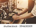 barista coffee maker machine... | Shutterstock . vector #394630309