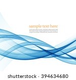 abstract blue wavy lines. ... | Shutterstock .eps vector #394634680