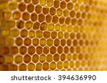 honeycombs filled with honey... | Shutterstock . vector #394636990