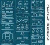 hand drawn website layouts....