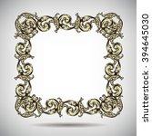 antique vintage floral... | Shutterstock .eps vector #394645030
