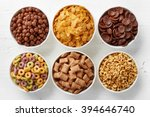 Bowls Of Various Cereals From...