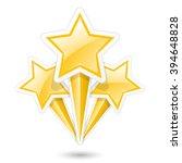 golden stars on sticks  ... | Shutterstock .eps vector #394648828