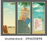 set of vintage vertical banners ...   Shutterstock .eps vector #394650898