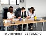 shot of three corporate... | Shutterstock . vector #394652140