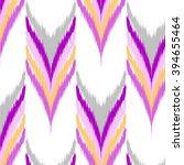 seamless ikat ogee background... | Shutterstock .eps vector #394655464