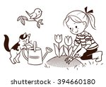 vector black and white cartoon...   Shutterstock .eps vector #394660180