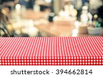 empty table with red check... | Shutterstock . vector #394662814