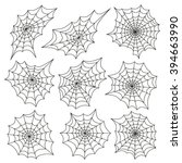 spider's web icon set....