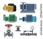 set   water motor  pump and... | Shutterstock .eps vector #394667044