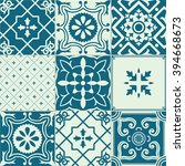 set of 9 tiles background. for... | Shutterstock . vector #394668673