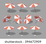 Sun Umbrella. 3d Lowpoly...