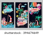 cartoon style.  business summer ... | Shutterstock .eps vector #394674649