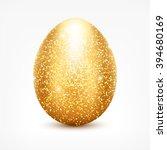 Vector Golden Glitter Egg....