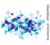 abstract colorful blue and... | Shutterstock .eps vector #394684966