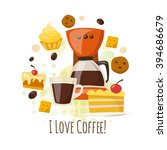 o love coffee design. cool... | Shutterstock .eps vector #394686679