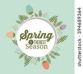 hello spring design  | Shutterstock .eps vector #394689364