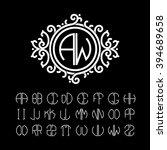 stylish  graceful monogram made ... | Shutterstock .eps vector #394689658