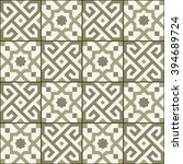 geometric seamless  pattern ... | Shutterstock .eps vector #394689724