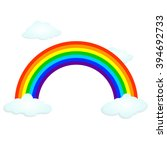 vector symbol of rainbow and...   Shutterstock .eps vector #394692733