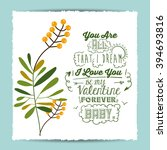 love message design  | Shutterstock .eps vector #394693816