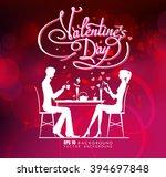 happy valentine day couple... | Shutterstock .eps vector #394697848
