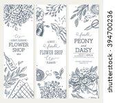 flower shop banner collection....   Shutterstock .eps vector #394700236