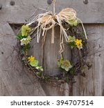 Wreath Of Daffodils And...