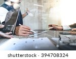 businessman making presentation ...   Shutterstock . vector #394708324