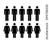 people icon   men   women vector | Shutterstock .eps vector #394708330