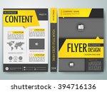 modern flyers brochure cover... | Shutterstock .eps vector #394716136